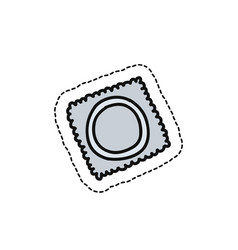 condom doodle icon vector image