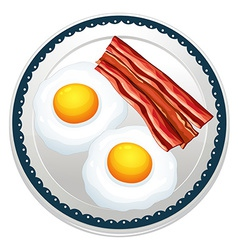 Egg and becon vector image vector image