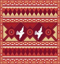spring birds ornamental poster vector image vector image