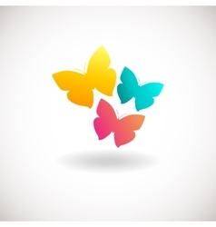 Vivid colors butterfly logo vector image vector image