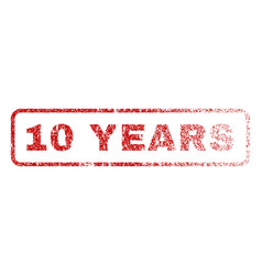 10 years rubber stamp vector image