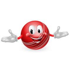 cricket ball mascot vector image vector image