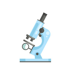flat of optical laboratory microscope in vector image