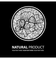 floral logo 13 grunge vector image