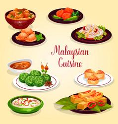 malaysian cuisine icon of asian restaurant menu vector image