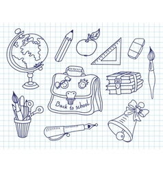 Scribble in a writing-books set vector image