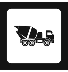 Truck concrete mixer icon simple style vector image vector image