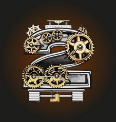 2 letter with gears vector