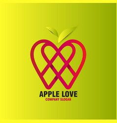 Abstract apple love vector