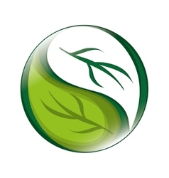 abstract leaves nature icon vector image