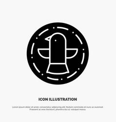 american bird celebration eagle solid glyph icon vector image