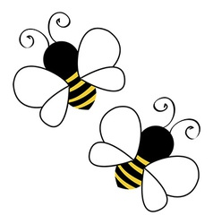Bees flying vector image vector image