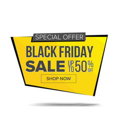 Black friday sale banner discount banner vector