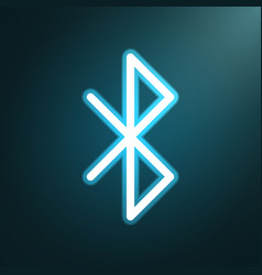 bluetooth glow icon vector image