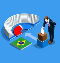 Brazil election brazilian vote infographic vector