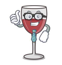 Businessman wine character cartoon style vector