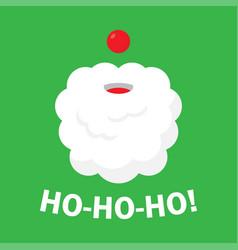 Christmas background with santa claus ho ho ho vector