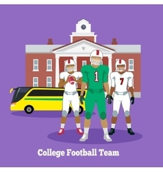 College Football Team Concept Flat Design vector image