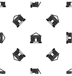 Colonnade pattern seamless black vector