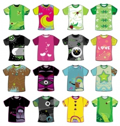 colorful t-shirts vector image