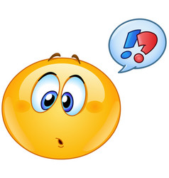 confused emoticon with speech bubble vector image