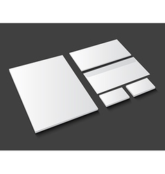 Corporate identity template stationery on dark vector