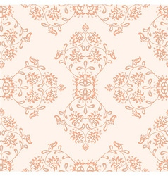 Creamy seamless floral pattern vector image
