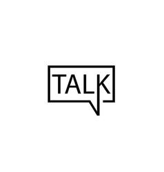 creative letter talk bubble logo design symbol vector image