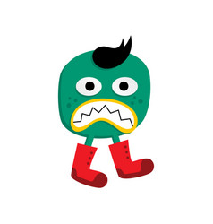 Cute adorable ugly scary funny mascot monster vector