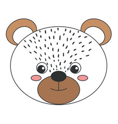 cute and tender bear vector image