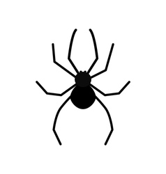 Cute cartoon black spider silhouette poisonous vector