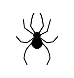 Cute cartoon black spider silhouette poisonous vector