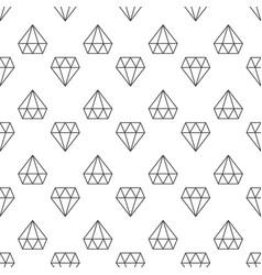 Diamonds dark linear geometric seamless vector