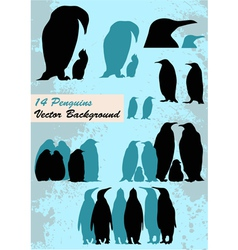 Different penguins vector