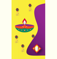 Diwali is festival of lights of hindu for vector
