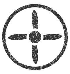 Drone Screw Grainy Texture Icon vector image