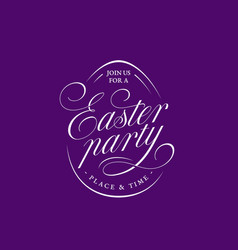 easter party lettering vector image