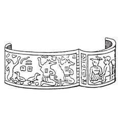 Egyptian bracelet have hinged pattern vintage vector