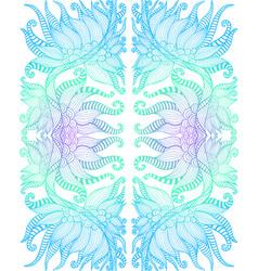 Elegant tribal intricate ornament blue cyan vector