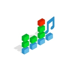 Equalizer scale icon isometric 3d style vector image