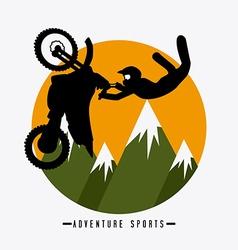 Extreme sport design vector image