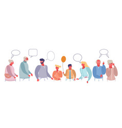Family discussion flat style design vector
