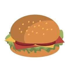 fast food burger graphic vector image