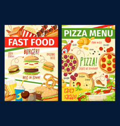 Fast food snacks and meals menu vector