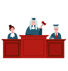 federal supreme court with judges jurisprudence vector image