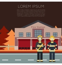 Fire station banner1 vector