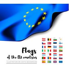 flags countries european union eu vector image