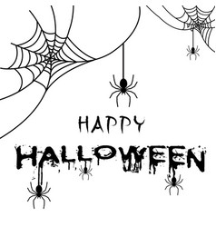 happy halloween spider of web background im vector image