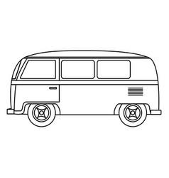 Hippie van transport vehicle icon vector
