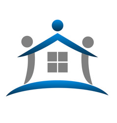 House figure abstract real estate icon vector